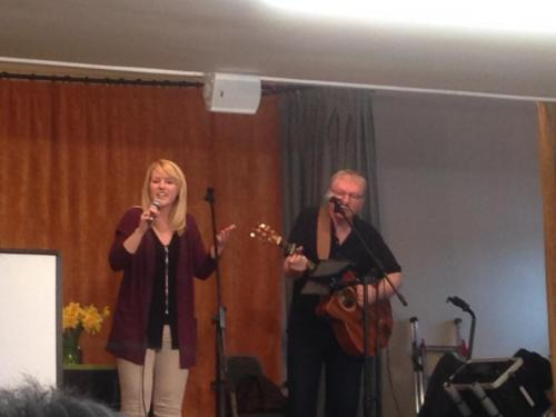 April Shipton & her Dad performing live in Longtown April 2018